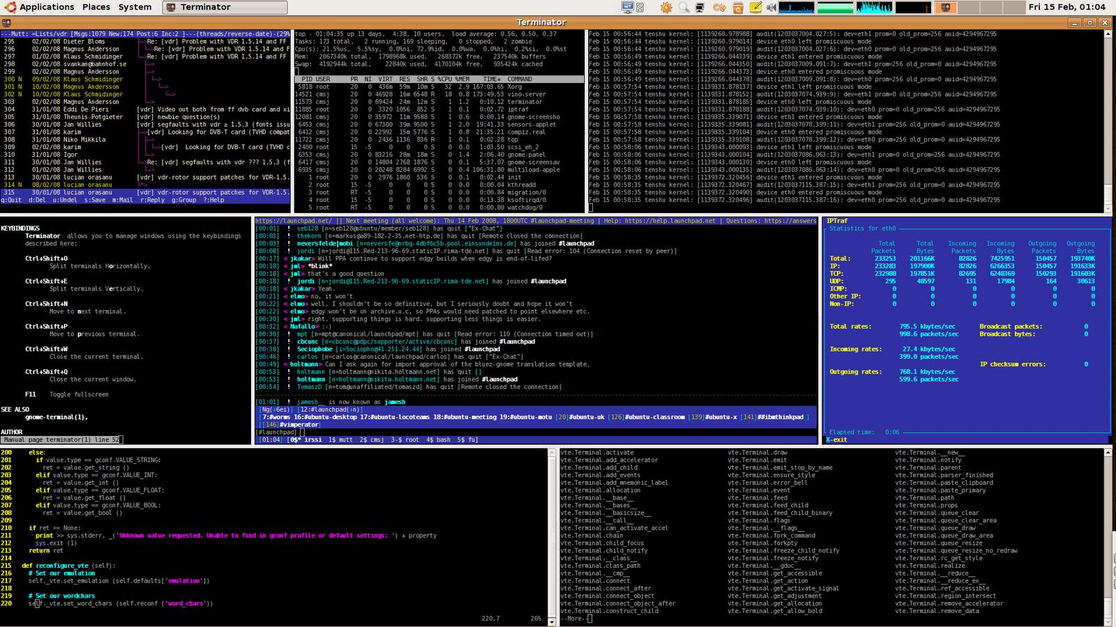 The Terminator terminal UI
