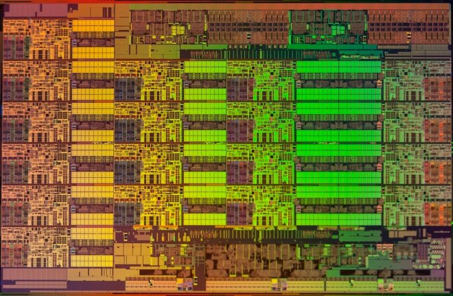 The Intel E5 die diagram