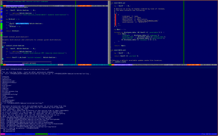 A complex tmux implementation!