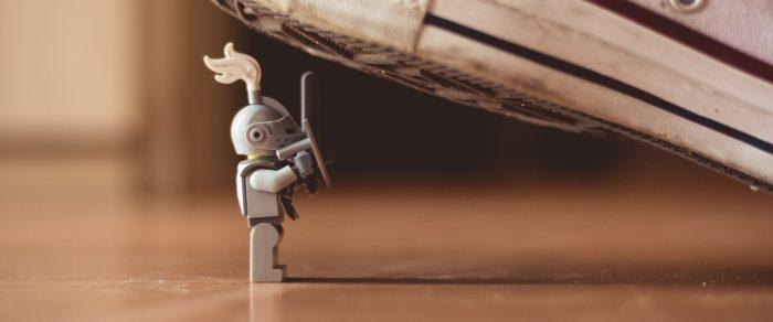 VPS comparison: Picture of a Lego person beneath a shoe.