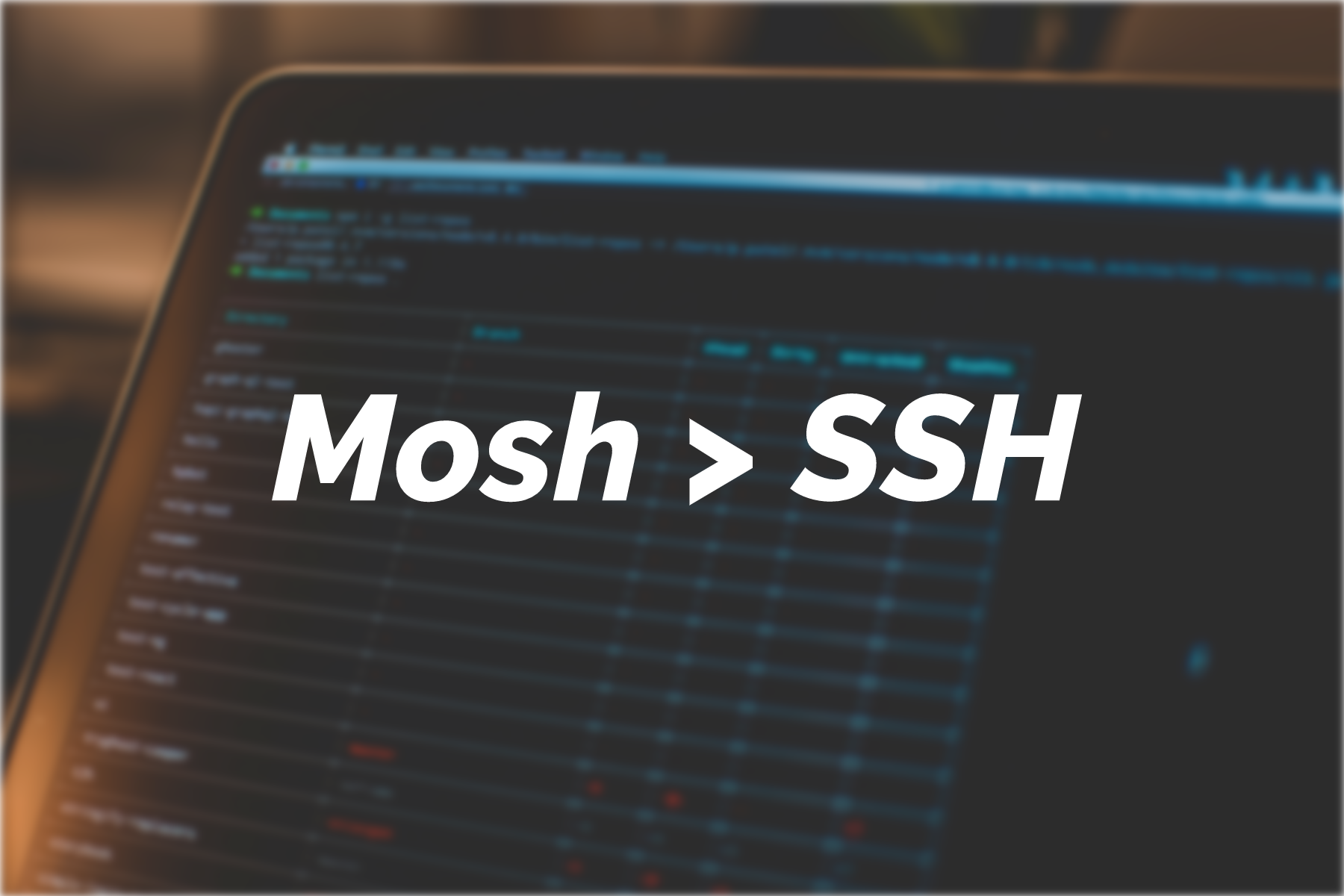 Tutorial: Ditch SSH, get started with Mosh | Serverwise
