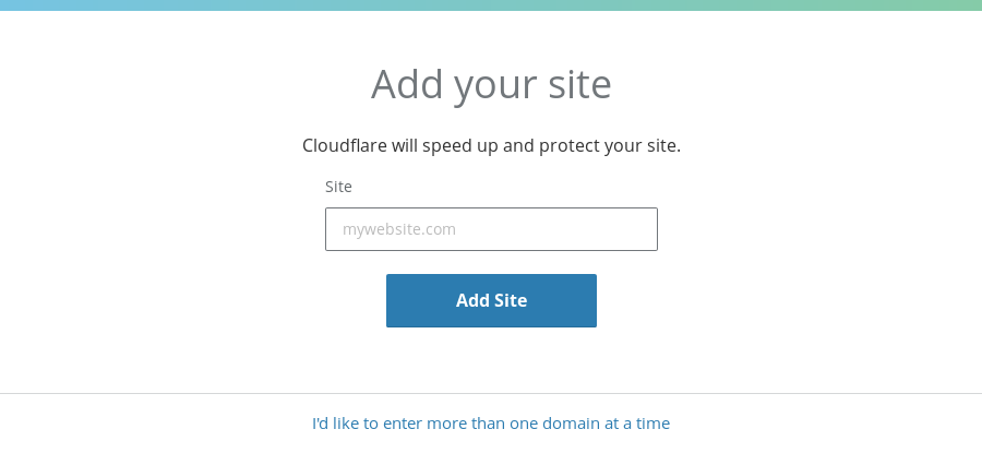 Self-hosting guide: Add a site to Cloudflare
