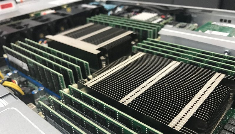 Infrastructure comparison: A picture of an SSD Nodes host node