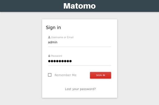 Matomo VPS installation: Logging in for the first time