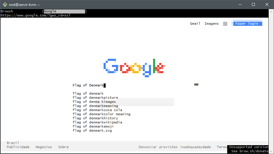 Browsh: Time to Google!