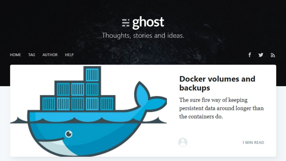 Docker backup: The Ghost volume in use