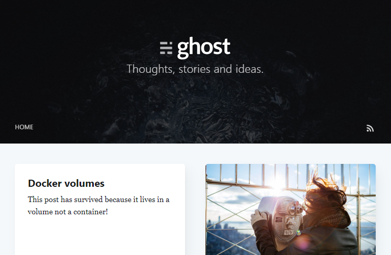 Docker volumes: An example using the Ghost CMS