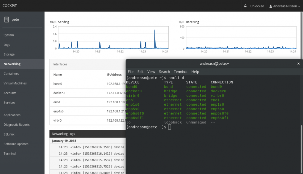 cockit_for_linux_server_management