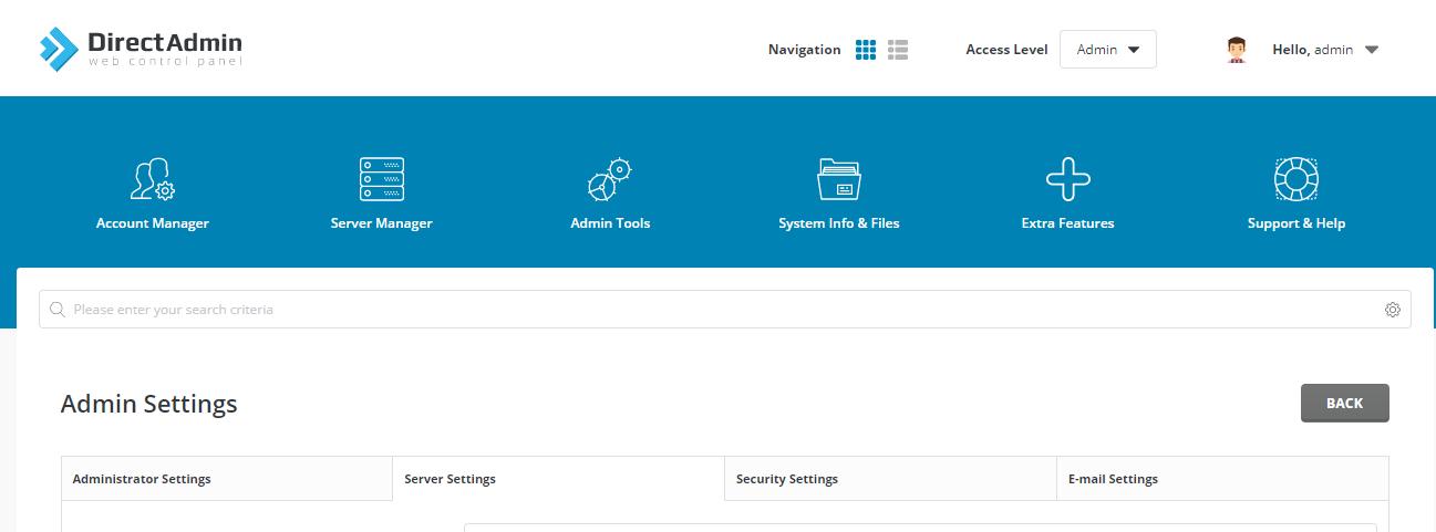server-settings-directadmin