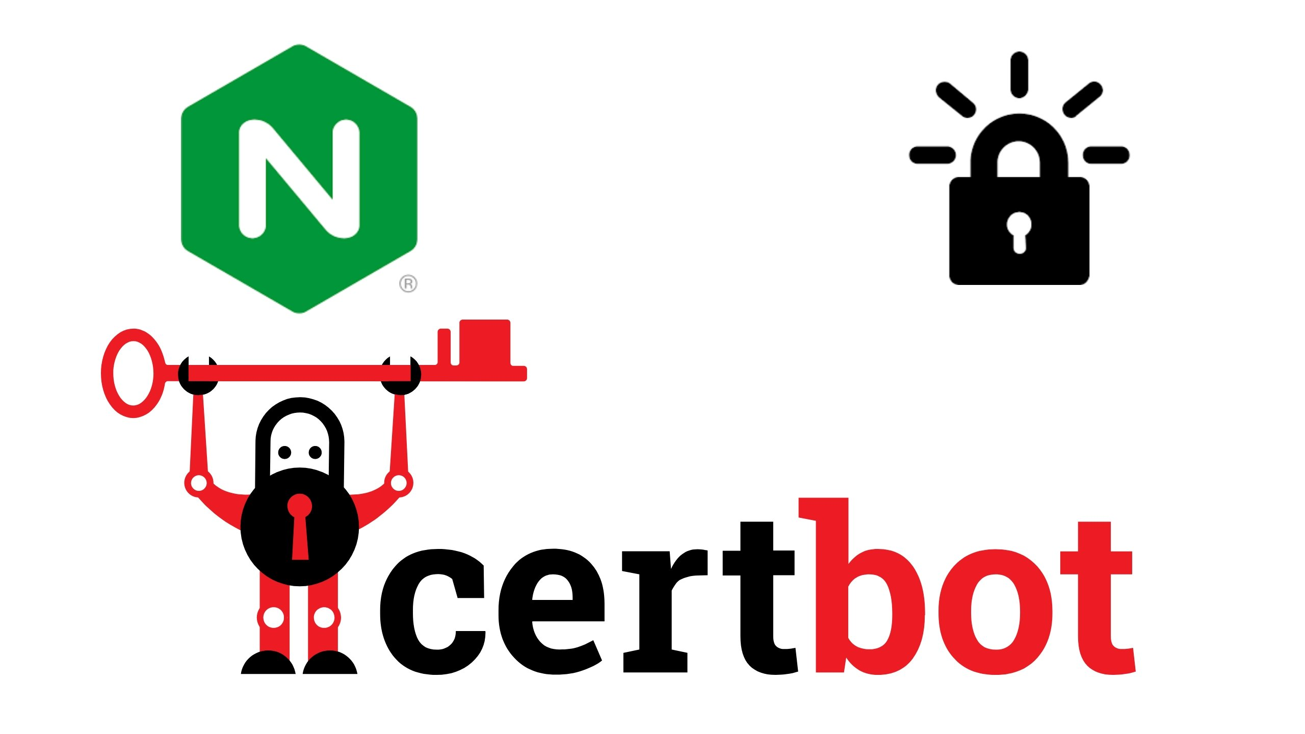 Nginx, Let's Encrypt and Certbot Logos